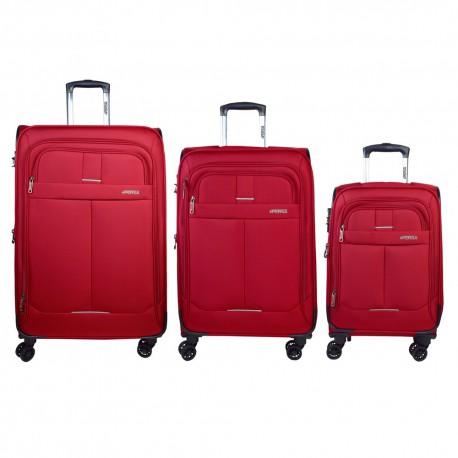 ست سه تایی چمدان نرم persa-lily با قفل TSA