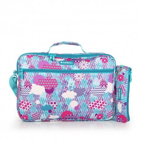 ست کیف دوشی و جامدادی تک زیپ Color